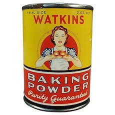 Vintage J.R. Watkins Sample - Little Baking Powder Tin