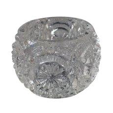 Vintage Pressed Glass Salt Dip - Little Individual Size