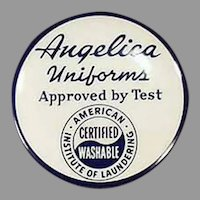 Vintage Celluloid Advertising Tape Measure for Angelica Uniforms