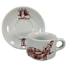 Vintage Coffee Cup & Saucer Restaurant China – Prairie Dog / Ground Hog