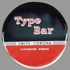Vintage Typewriter Ribbon Tin - Smith Corona Type Bar