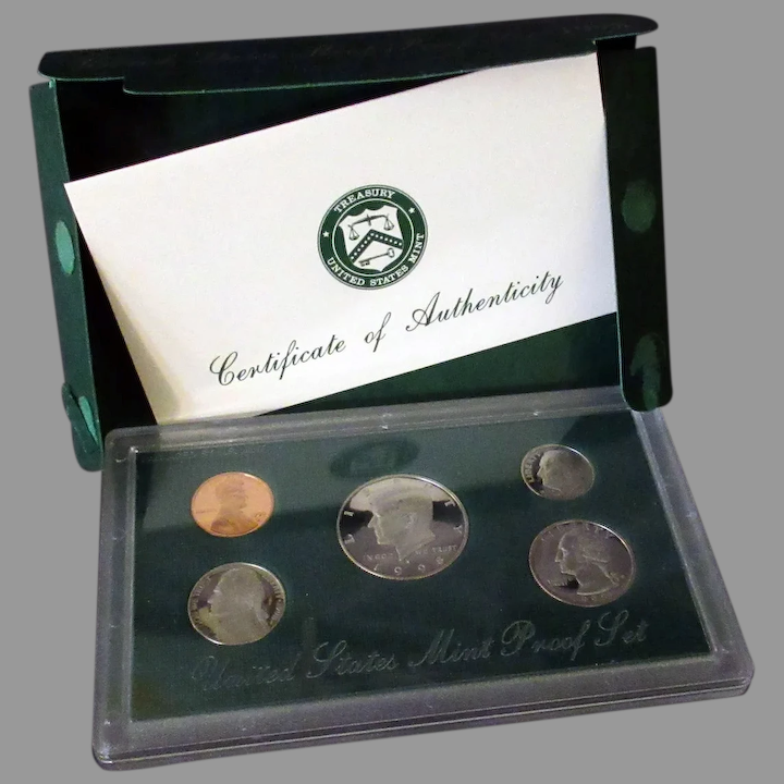 1998  United States Proof Set 5 Five Coin Set Kennedy Half Dollar