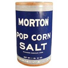 Vintage 1950's Morton Popcorn Salt Box - Fun Pop Corn Go-With