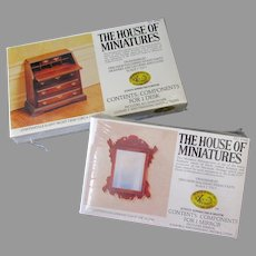 Vintage Chippendale Furniture House of Miniatures #42403 & #40042 Unassembled Kits