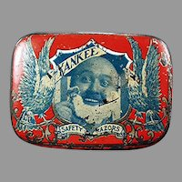 Vintage Reichard & Scheuber Yankee Razor Tin - Antique Safety Razor Tin, Nice Graphics
