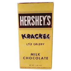 Vintage Candy Box - Hershey's Milk Chocolate Krackel Candy Bar Box