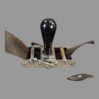 Antique Rundel Automatic Wedge Razor Blade Sharpener Stropper