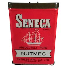 Vintage Spice Tin - Seneca Nutmeg by Empress – Old Advertising Tin