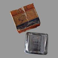 Vintage Glass Clix Safety Razor Blade Sharpener with Original Box