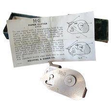 Vintage K & E #2702 Paper Cutter with Box & Instructions