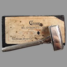 Vintage Clauss Never Fail No.12 Safety Razor with Original Box