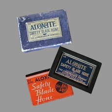 Vintage Aloxite #45 Safety Razor Blade Hone in its Original Box