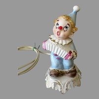 Vintage Porcelain Bisque Clown Night Light Electric Lamp