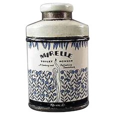 Vintage Sample Talc Tin - Miniature Kleinert's Mirelle Powder
