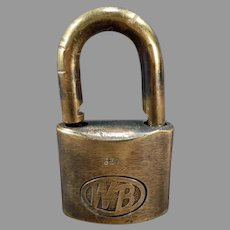 Vintage WB #622 Wilson Bohannan Brass Padlock – Shackle Lock