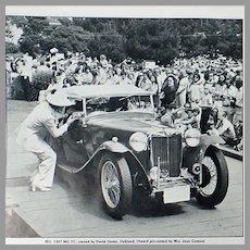 Vintage 1977 Pebble Beach Concours d'Elegance Program - Old Car Memorabilia