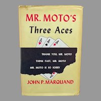 Vintage 1938 Marquand Mystery Novel - Mr. Moto's Three Aces - Hardbound Book