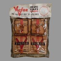 Vintage 1950's - 1960's Victor Mouse Trap 2 Pack - Original Package