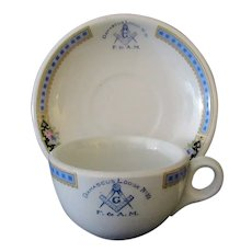 Vintage Masonic Lodge Restaurant China – Damascus #10 Lodge Cup & Saucer