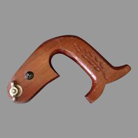 Vintage Keyhole Saw Handle with Wheat Design – Woodworking Hand Tool