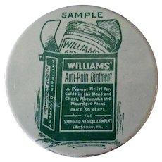 Vintage Sample Medicine Tin - Williams' Anti-Pain Ointment Tin – Medical Advertising