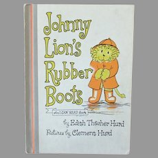 Child's Vintage Storybook – 1972 Johnny Lion's Rubber Boots First Edition