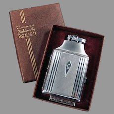 "Vintage Ronson Mastercase Cigarette Case Lighter with Original Box - ""G"" Monogram"