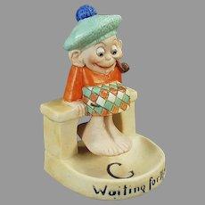 Vintage S & V Schafer & Vater Bisque, Waiting for the Tide Scotsman Swinger