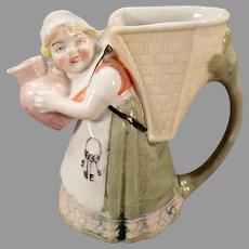 Vintage S&V Schafer and Vater Pitcher - Little Girl with Keys - Germany