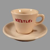 Vintage Restaurant China - Nestle's Hot Chocolate Cup and Saucer Cocoa Advertising