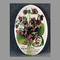 Vintage Celluloid Advertising Mirror for Mennen's Violet Talcum Powder