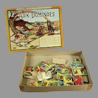 Vintage Ark Dominoes Game with Box - Colorful Game with Animal Graphics