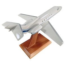 Vintage Micro West Executive Desk Airplane Model - Raytheon Hawker 700 Jet