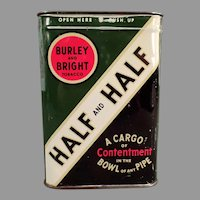 Vintage Burley & Bright and Contentment, Half and Half Pipe Tobacco Tin