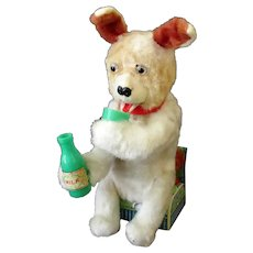 Vintage B.O. Toy - Milk Drinking Dog with Eyes that Light – Battery Operated
