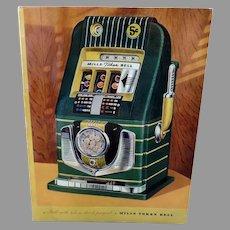 Vintage Mills Slot Machine Advertising Brochure - Bell-O-Matic Gambling Collectible