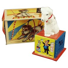 Vintage Rex the Counting Dog Tin WindUp Toy with Box - See on Facebook