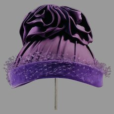 Outrageous Royal Purple Hat - Great Vintage Style