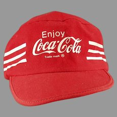 Vintage Coke Baseball Cap Hat with Enjoy Coca-Cola Advertising