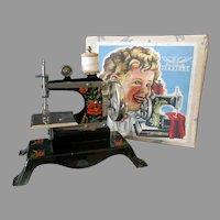 Child's Vintage Casige Toy Sewing Machine with Original Box – British Zone Germany