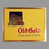 Vintage Old Gold Cigarettes, Flat Tobacco Tin - Very Nice Condition