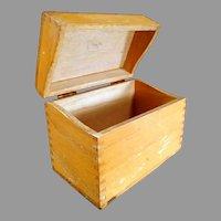 Vintage Oak File Box - Standard Index Card Size for Kitchen or Office Use