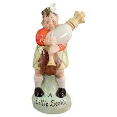Vintage S&V Figural Flask - Scotish Bagpiper with Original Stopper - Schafer & Vater