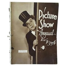Vintage 1934 Picture Show Annual with Early 1930's Movie Stars