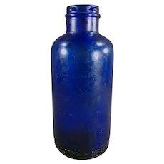 Vintage Cobalt Blue Glass - Bromo-Seltzer Dispensing Bottle