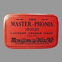 Vintage Montgomery Ward Master-Phonia Phonograph Needle Tin
