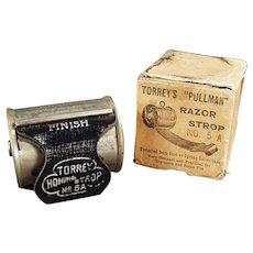 Antique Torrey's Pullman, Retractable Razor Strop with Original Box