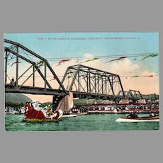 Vintage Northwestern Pacific Railroad Water Carnival Healdsburg California Souvenir Postcard