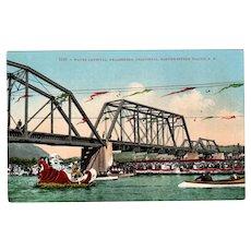 Vintage Northwestern Pacific Railroad Water Carnival Healdsburg California Souvenir Postcard