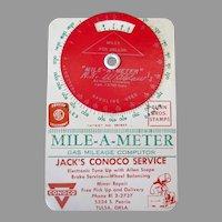Vintage Mile-A-Meter Computer with Oklahoma Conoco Advertising